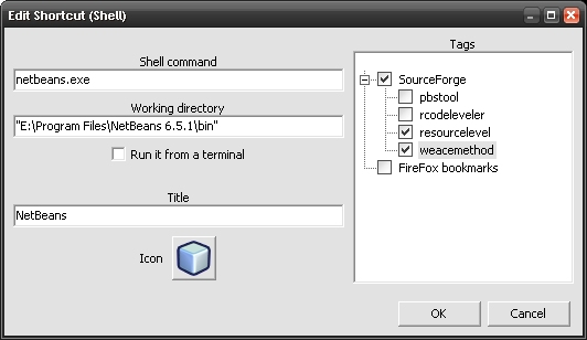 Shell Shortcut edition